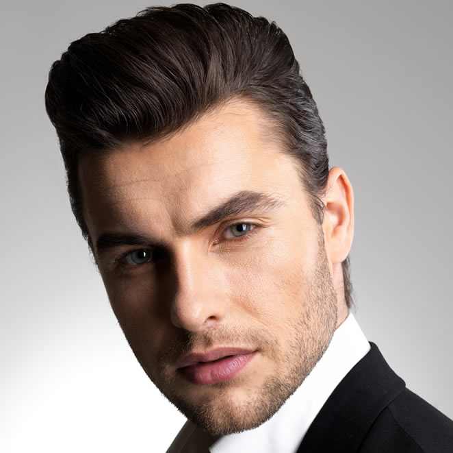 Pompadour hairstyle for men is stylish
